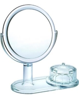 Chenco Inc. Magnifying Mirror with Faceted Jewelry Box CH-9313