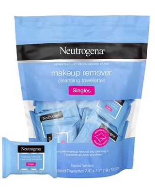 Neutrogena Makeup Cleansing Face Wipes, Individually Wrapped, 20 ct