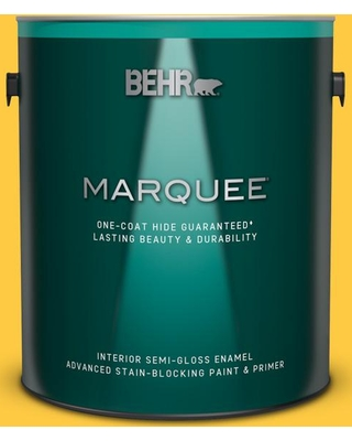 BEHR MARQUEE 1 gal. #P290-6 English Daisy Semi-Gloss Enamel Interior Paint and Primer in One