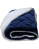AC Pacific Luxury Cozy Soft Square Quilted Throw Blanket COMFORT-BLUE
