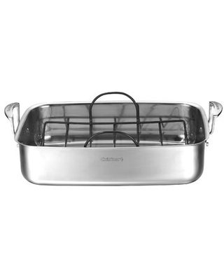 Cuisinart 17.7 in. Non-Stick Stainless Steel Roasting Pan