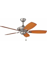 "44"" Kichler Canfield Brushed Nickel Ceiling Fan"
