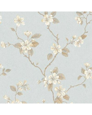 "Galerie Wallcoverings Dogwood 32.8' L x 21"" W 3D Embossed Wallpaper Roll GALW1129 Color: Light Blue/Brown"