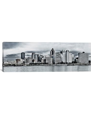 """East Urban Home 'Photography Pittsburgh Skyline Cityscape' Photographic Print on Canvas EUBN9694 Size: 12"""" H x 36"""" W x 0.75"""" D"""