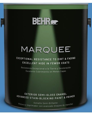 BEHR MARQUEE 1 gal. #P520-5 Boat House Semi-Gloss Enamel Exterior Paint and Primer in One