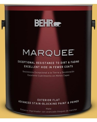 BEHR MARQUEE 1 gal. #360D-5 Golden Chalice Flat Exterior Paint and Primer in One