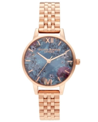Olivia Burton Women's Under The Sea Rose Gold-Tone Stainless Steel Bracelet Watch 30mm