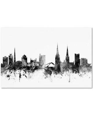 """Ivy Bronx 'Coventry England Skyline' Graphic Art on Wrapped Canvas IVYB6522 Size: 12"""" H x 19"""" W x 2"""" D"""