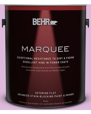 BEHR MARQUEE 1 gal. #670A-3 Posies Flat Exterior Paint and Primer in One