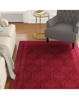 Amazing Deals On Charlton Home Bradfield Red Area Rug X111095647
