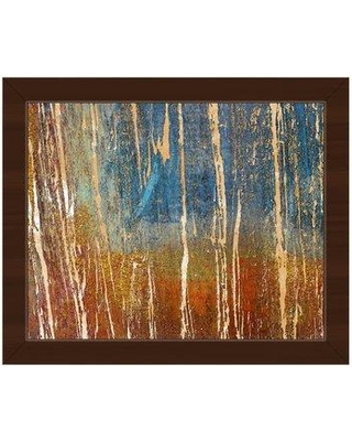 """Click Wall Art 'Peeling Monument' Framed Painting Print ABS0000726F Size: 22.5"""" H x 26.5"""" W Format: Espresso Framed"""