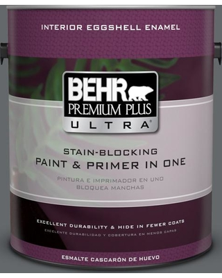 BEHR ULTRA 1 gal. #PPU26-02 Imperial Gray Eggshell Enamel Interior Paint and Primer in One