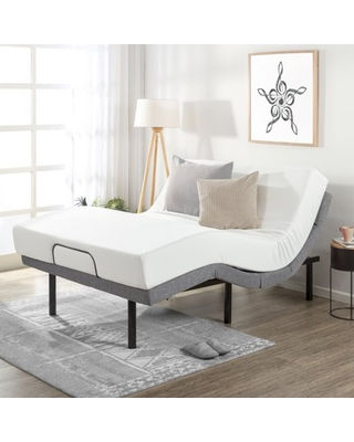 Mellow Adjustable Bed Base Unique Added Head Tilt/Wireless Remote Control, Queen