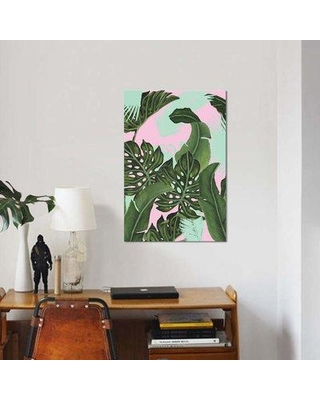 """East Urban Home 'Neon Jungle I' Water Painting Print on Canvas EBHS9187 Size: 40"""" H x 26"""" W x 0.75"""" D"""