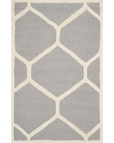 Hunter Accent Rug - Silver / Ivory ( 2' X 3' ) - Safavieh, Silver/Ivory