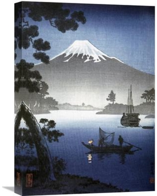 "Global Gallery 'Japanese Print (Mount Fuji from Tagonoura)' By Shinsei Painting Print on Wrapped Canvas GCS-283117-22-142 / GCS-283117-30-142 Size: 30"" H x 21.2"" W x 1.5"" D"