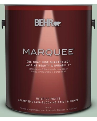 BEHR MARQUEE 1 gal. #S410-3 Ponds Edge One-Coat Hide Matte Interior Paint and Primer in One