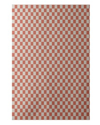 Simply daisy 2' x 3' gingham check geometric print indoor rug