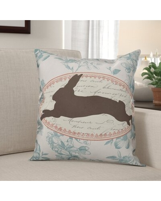 Shop Deals For Kelliher Vintage Florals Rabbit Throw Pillow The Holiday Aisle