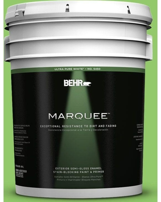 BEHR MARQUEE 5 gal. #430B-5 Apple Orchard Semi-Gloss Enamel Exterior Paint and Primer in One