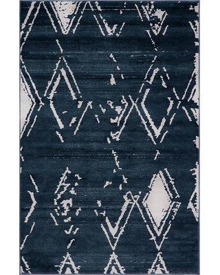Jill Zarin™ Uptown Carnegie Hill Navy Blue Area Rug 314121 Rug Size: Rectangle 4' x 6'