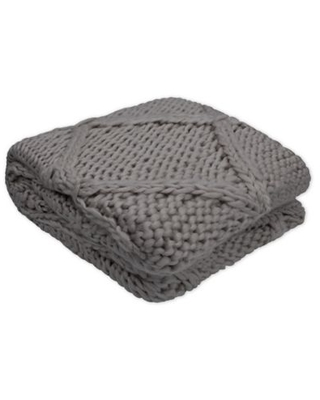 French Connection® Claire Throw Blanket in Charcoal