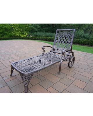 Oakland Living Mississippi Aluminum Outdoor Chaise Lounge