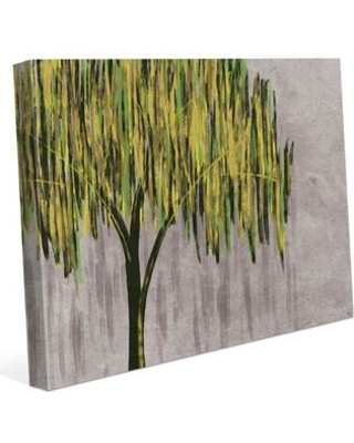 """Click Wall Art 'Rustic Willow Yellow' Print of Painting on Wrapped Canvas TRE0000040CAN Size: 16"""" H x 20"""" W x 1.5"""" D"""