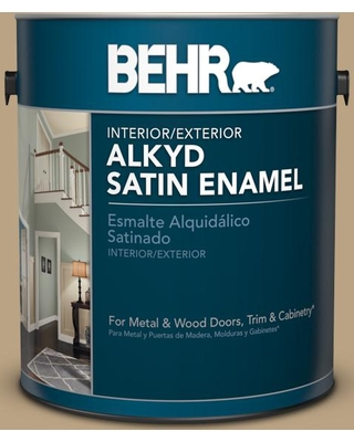 BEHR 1 gal. Home Decorators Collection #HDC-CT-07 Country Cork Urethane Alkyd Satin Enamel Interior/Exterior Paint