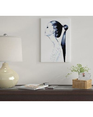 """East Urban Home 'Pony Tail Girl' By Rongrong DeVoe Graphic Art Print on Wrapped Canvas EUME6834 Size: 12"""" H x 8"""" W x 0.75"""" D"""