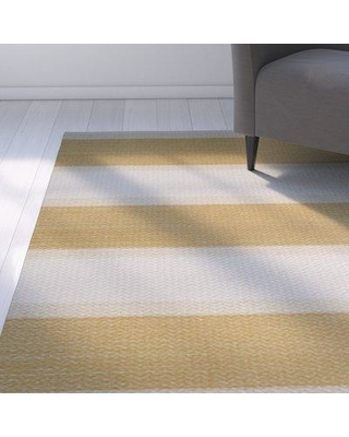 New Deals On Breakwater Bay Addyson Striped Gold Area Rug Polyester In Yellow Gold Size Rectangle 2 X 3 Wayfair Bkwt2894 40980212
