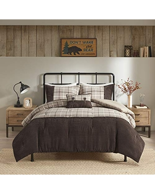 Remarkable Deals On Woolrich Rustic Lodge Cabin Comforter Set Down Alternative Warm Bedding And Matching Shams King Anaheim Plaid Tan Brown