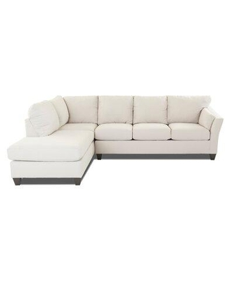 """Darby Home Co Mosley 118"""" Sectional ECZD2953 Fabric: Amigo Granite Orientation: Right Hand Facing"""
