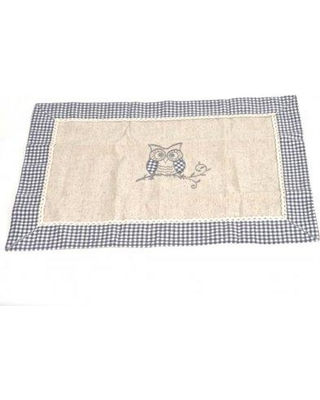 """August Grove Pasley Linen Owl 13.8"""" Placemat AGTG6316"""