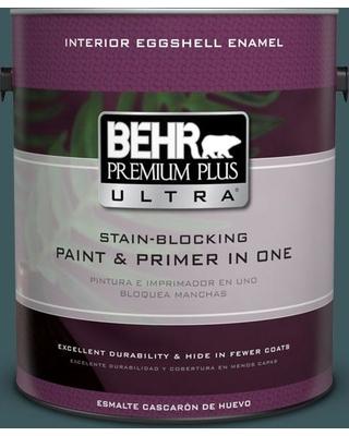 BEHR Premium Plus Ultra 1 gal. #510F-7 Teal Forest Eggshell Enamel Interior Paint and Primer in One