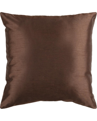 Artistic Weavers Visoko Chocolate Solid Polyester 22 in. x 22 in. Throw Pillow, Brown