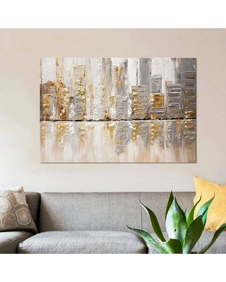 """East Urban Home 'Streets III' Print on Canvas EBHX6342 Size: 18"""" H x 26"""" W x 0.75"""" D"""