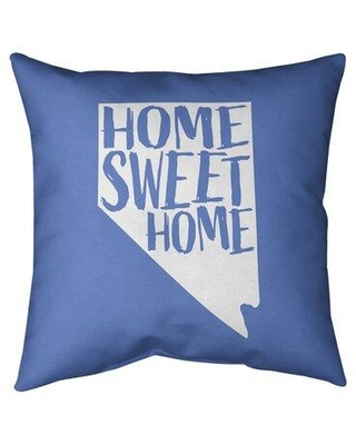 """East Urban Home Home Sweet Indoor/Outdoor Throw Pillow EBJE2846 Color: Purple Size: 20"""" x 20"""" State: Nevada"""