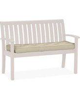 Universal Bench Replacement Cushion, Outdoor Canvas, Stone
