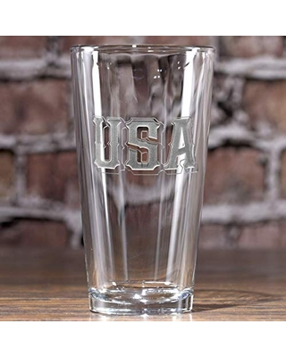 Beer Glasses Home Kitchen Captain Morgan 4 Piece 16 Ounce Highball Beer Drinking Glass Bar Kitchen Set