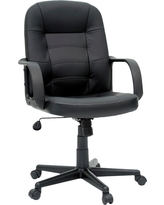 Office Chair Bonded Leather Black - Room Essentials, Ebony