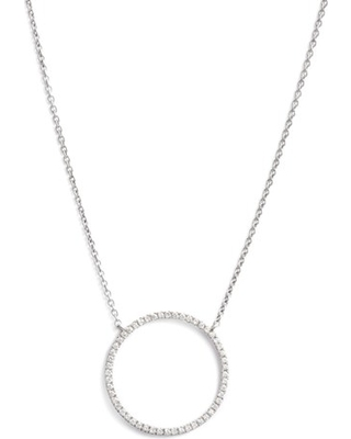 Women's Bony Levy Simple Obsessions Circle Pendant Necklace (Nordstrom Exclusive)
