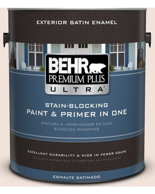 BEHR Premium Plus Ultra 1 gal. #W-B-120 Victorian Pearl Satin Enamel Exterior Paint and Primer in One