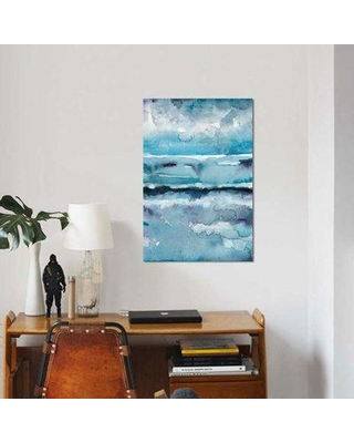 """East Urban Home 'Blue Tide II' Graphic Art Print on Canvas EBHS5792 Size: 12"""" H x 8"""" W x 0.75"""" D"""