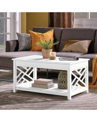 Special Prices On Rosalind Wheeler Lund Coffee Table With Storage X114241792 Color White