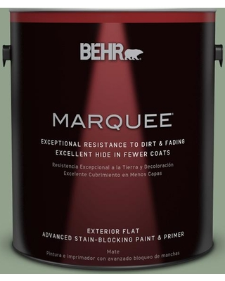 BEHR MARQUEE 1 gal. #440F-4 Athenian Green Flat Exterior Paint and Primer in One