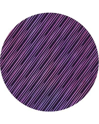 East Urban Home Kingsdale Striped Wool Pink/Purple Area Rug X112591430 Rug Size: Round 5'