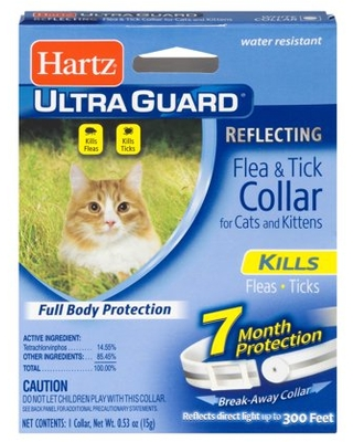 Hartz UltraGuard Reflecting Flea & Tick Collar for Cats and Kittens, 7 months Protection