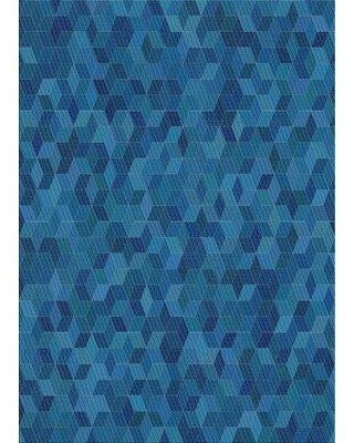 East Urban Home Patterned Blue Area Rug X112915098 Rug Size: Rectangle 2' x 3'