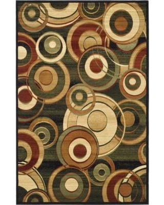 "Ebern Designs Chani Black/Beige Area Rug EBND7169 Rug Size: Rectangle 5'3"" x 7'6"""
